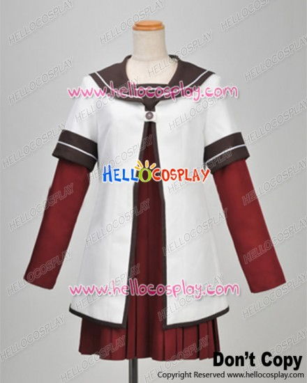 Yuru Yuri Cosplay Akari Akaza Winter Uniform Costume