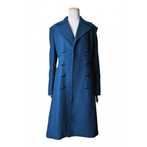 Doctor Dr Amy Teal Wool Blue Coat Costume