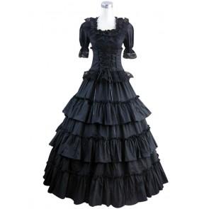 Victorian Gothic Lolita Wedding Black Dress Ball Gown