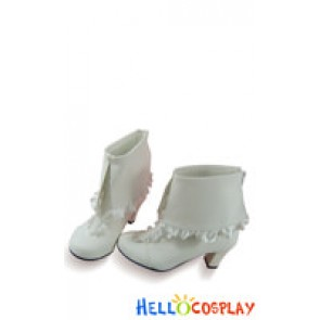 Vocaloid Cosplay Shoes Miku Rellakinoko White Shoes