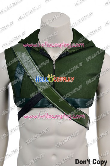 Green Arrow Oliver Queen Cosplay Costume Hoodie Quiver