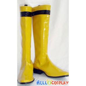 Tokusou Sentai Dekaranger Cosplay Yellow Boots
