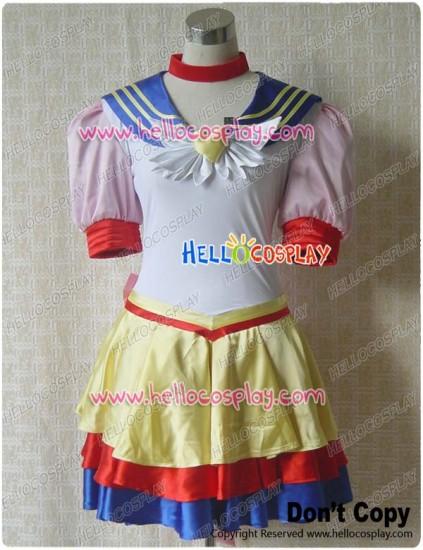 Sailor Moon Venus Cosplay Costume Battle Dress
