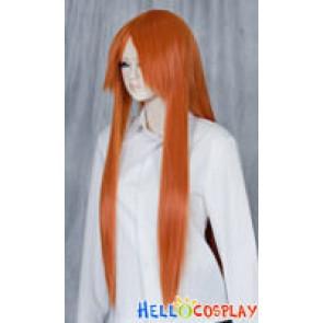 Bright Orange Medium Cosplay Straight Wig