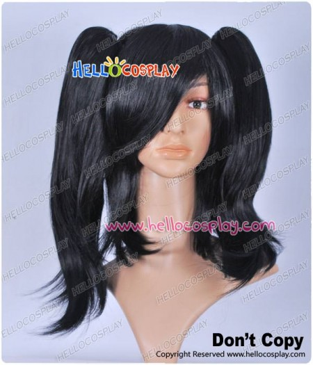 Black Curly Cosplay Wig Clip On Ponytail
