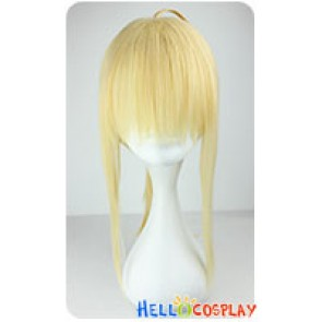 Fate Zero Saber Cosplay Wig Light Golden