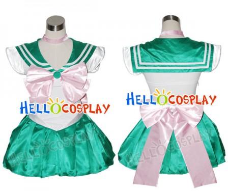 Sailor Moon Sailor Jupiter Makoto Kino Cosplay Costume