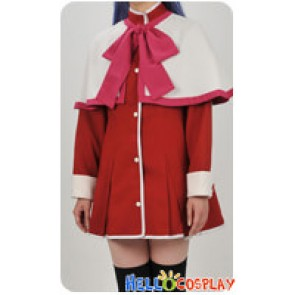 Kanon Cosplay Nayuki Minase Pink Red Uniform Costume