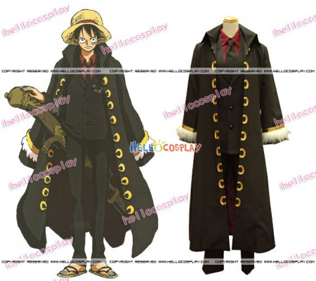 One Piece Strong World OVA Monkey D Luffy Cosplay Costume