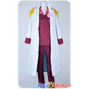 One Piece Cosplay Admiral Akainu Sakazuki Dark Red Uniform Costume