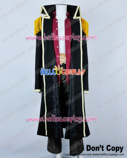 One Piece Cosplay Marshall D Teech Black Trench Coat Uniform Costume