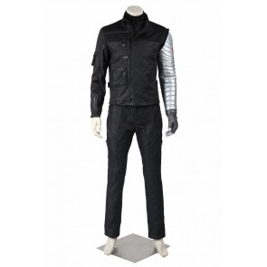 Captain America 3 Civil War Bucky Barnes Cosplay Costume Uniform