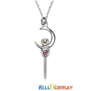 Sailor Moon Cosplay Usagi Tsukino Transfiguration Star Moon Stick Necklace