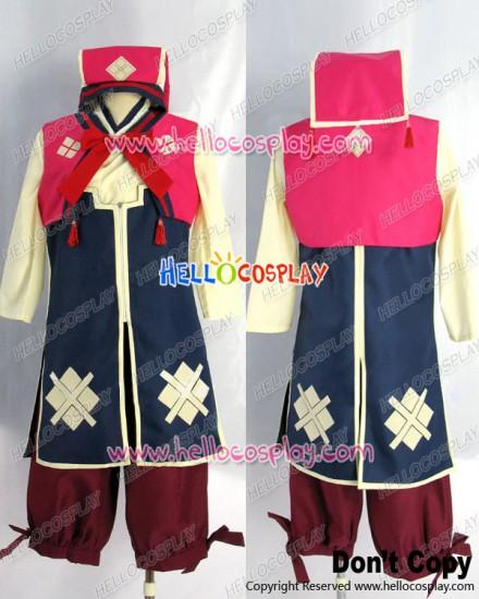 Monster Hunter 3rd Cosplay Nadesiko Uniform Costume Red Ver