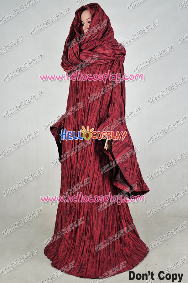 Game of Thrones The Red Woman Melisandre Cosplay Costume Outfit Dress Suit