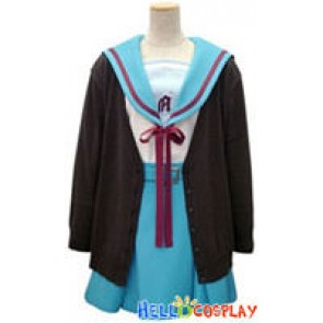 The melancholy of Haruhi Suzumiya Cosplay Yuki Nagato Costume