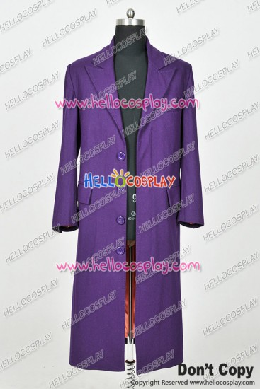 Batman The Joker Cosplay Costume Purple Trench Coat
