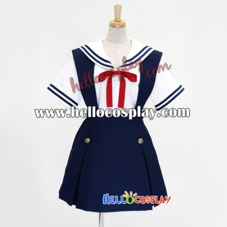 Clannad Cosplay School Girl Black Summer Uniform