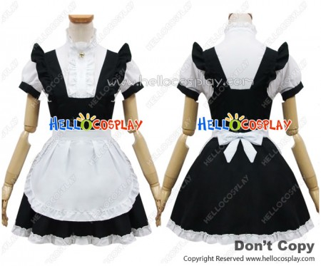 Angel Feather Cosplay Bell Black Cat Maid Dress