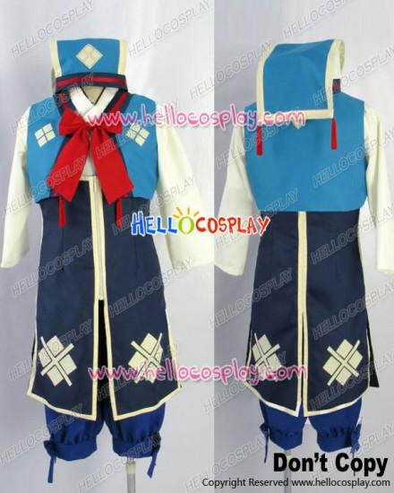 Monster Hunter 3rd Cosplay Nadesiko Uniform Costume Blue Ver
