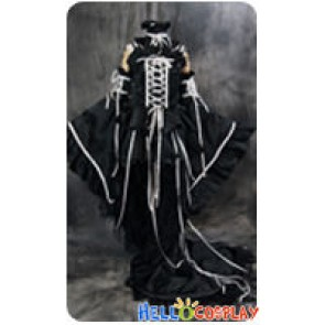 Chobits Cosplay Chi Black White Formal Dress Costume