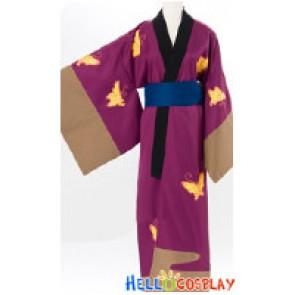 Gintama Silver Soul Cosplay Shinsuke Takasugi Kimono Costume