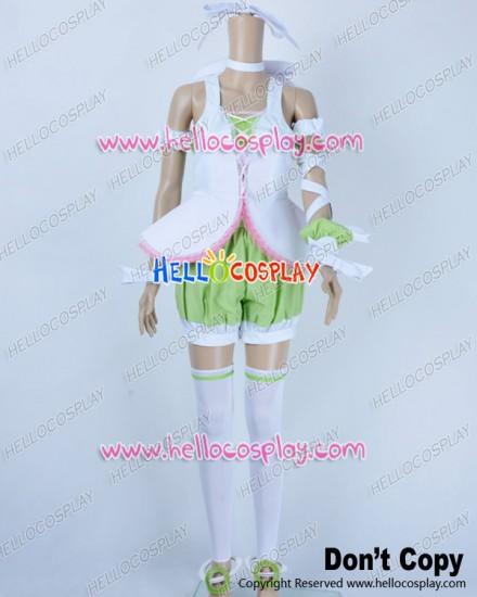 Vocaloid 2 Cosplay Costume Rin Kagamine Green Pink Uniform