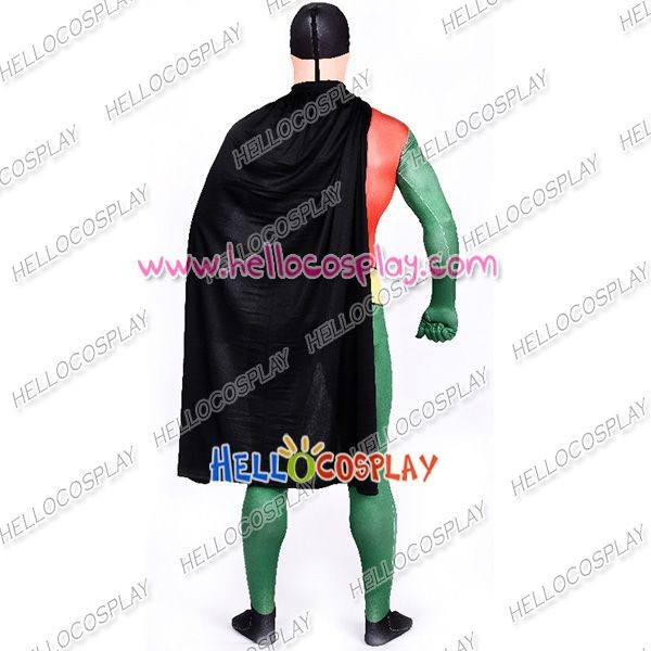 Robin Cosplay Costume Jumpsuit Cape