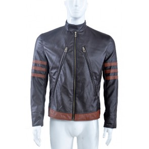 X-Men: Apocalypse Logan Jacket Cosplay Costume Dark Brown