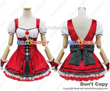 Angel Feather Cosplay Little Red Riding Hood Costume Dress