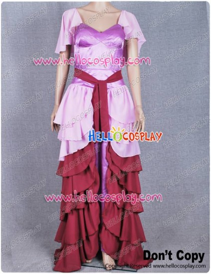 Harry Potter Hermione Granger Yule Ball Dress Pink Purple