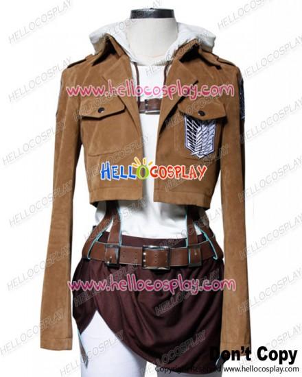 Attack On Titan Shingeki No Kyojin Cosplay Annie Leonhart Suede Costume Full Set