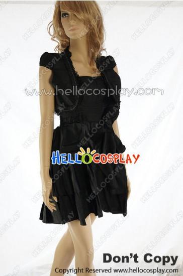 Party Cosplay Black Cape Lady Sling Dress Uniform Costume
