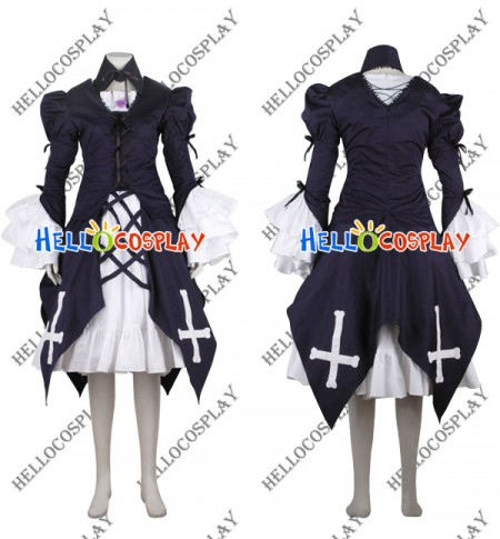 Rozen Maiden Suigintou Cosplay Costume Dress