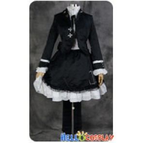 Vocaloid 2 Cosplay Secret Police Hatsune Miku Black Costume