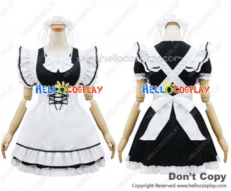 Angel Feather Cosplay COS Black White Maid Dress