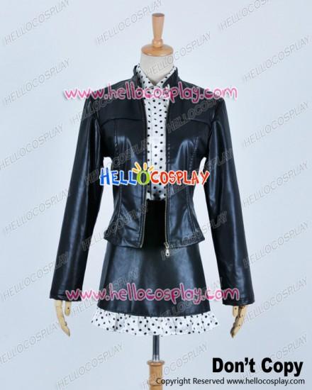 One Piece Cosplay Nico Robin Black Uniform Dot Shirt Costume