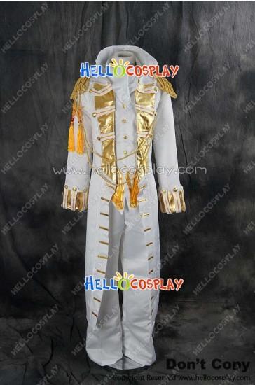 Code Geass Cosplay Suzaku Kururugi White Uniform Costume