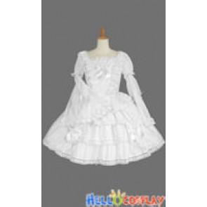 Gothic Lolita Punk Victorian Classic White Dress