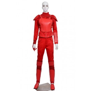 The Hunger Games 3 Mockingjay Katniss Everdeen Cosplay Costume Red Uniform