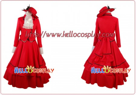 Black Butler Cosplay Madam Red Costume