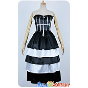 One Piece Cosplay Perona Black White Dress Costume Without Hat