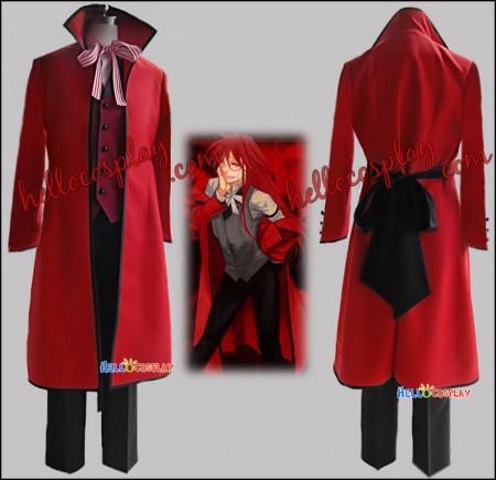 Black Butler Kuroshitsuji Grell Sutcliff Cosplay Costume