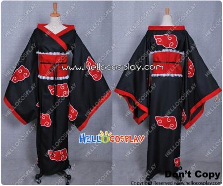 Naruto Cosplay Organization Akatsuki Female Cloak