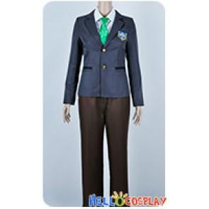 Free Iwatobi Swim Club Cosplay Haruka Nanase Makoto Tachibana Uniform Costume Green Tie