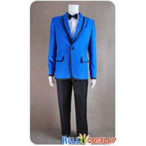 PSY Gangnam Style Cosplay Costume Blue Blazer Suit