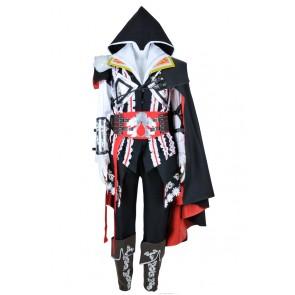 Assassin's Creed II 2 Cosplay Ezio Black Uniform Costume Full Set