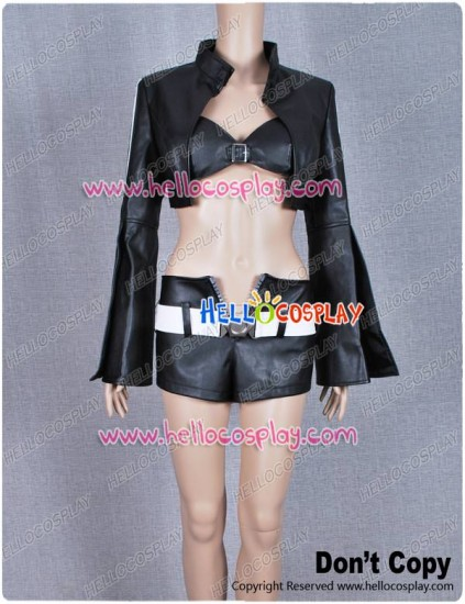 Black Rock Shooter Cosplay Costume Black Gold Saw Dress