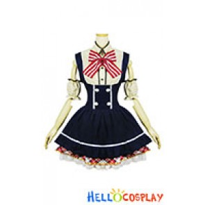 Love Live Cosplay Rin Hoshizora Maid Dress