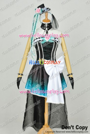 Vocaloid NightBaron Queen Of The Night Cosplay Hatsune Miku Dress Costume